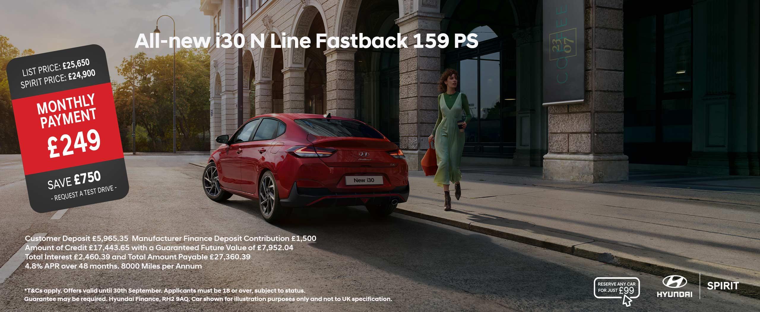 All-new i30 N Line Fastback